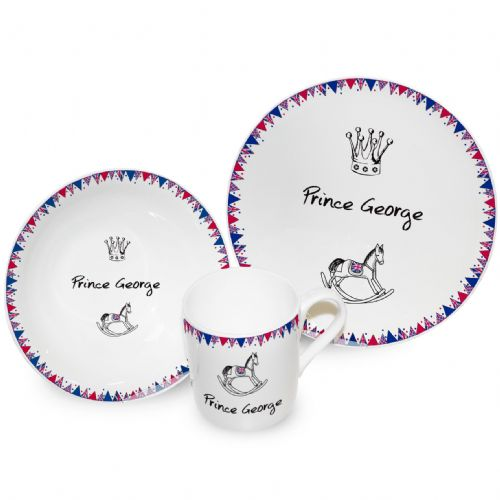 Personalised Royal Baby Breakfast Set .
